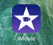 iPhoneのiMovieを起動し、新しくプロジェクトを作成する