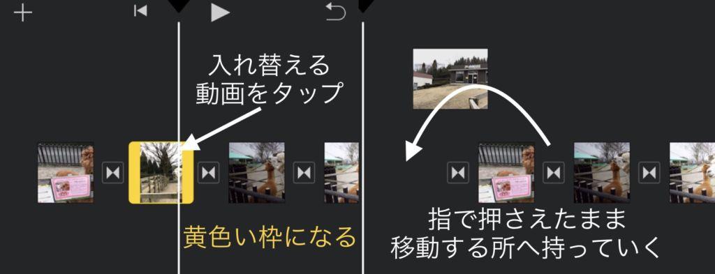 iPhoneのiMovie:並び替える方法